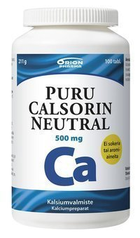 Puru Calsorin Neutral 500 mg 100 tablettia *