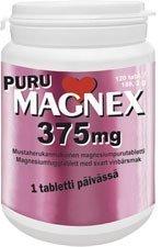 Puru Magnex 375 mg 120 purutablettia