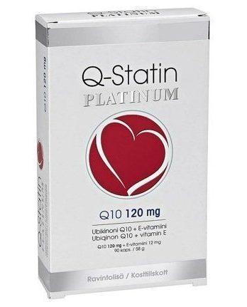 Q-Statin 120mg Platinum + E-vitamiini 12mg 90 kapselia