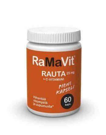 RaMaVit rauta 25 mg + C-vitamiini 60 kapselia
