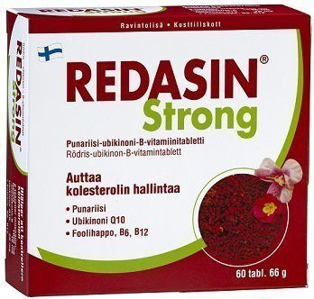 Redasin Strong Punariisi-ubikinoni-B-vitamiini 120 tabl.