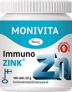 Reformi Immuno-Zink puriste 90 tabettia
