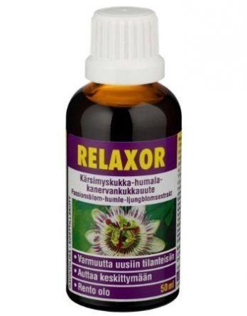 Relaxor kärsimyskukka-humala-kanervankukkauute 50 ml