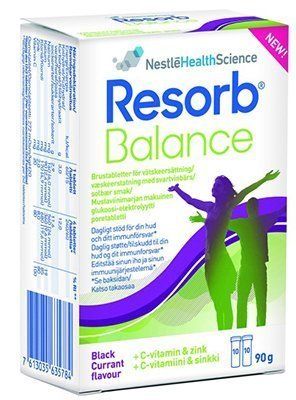 Resorb Balance Svartvinbär Brustabletter 20 kpl