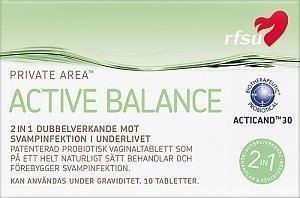 Rfsu Active Balance Emätintabletti 10 kpl