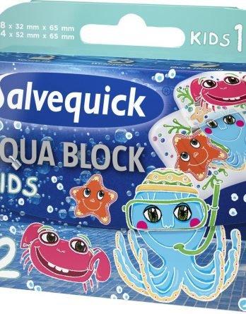 Salvequick Aqua Block Kids Laastari 12 Kpl