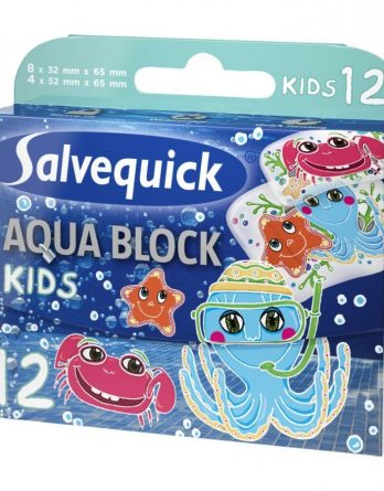 Salvequick Kids Aqua Block Laastari 12 Kpl