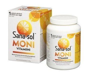 Sana-sol Monivitamiini 200 tablettia