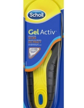 Scholl Gel Activ Work Men Pohjalliset 1 Pari