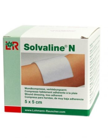 Solvaline N Sårkompress 5cm X 5cm 25 kpl
