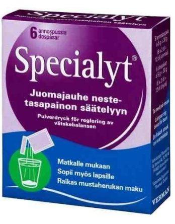 Specialyt juomajauhe 6 annospussia