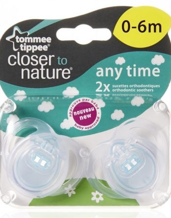Tommee Tippee Closer To Nature Any Time Sugnapp (0-6 Mån) 2 kpl