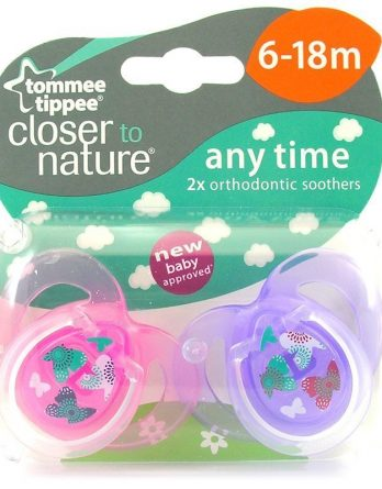 Tommee Tippee Closer To Nature Any Time Sugnapp (6-18 Mån) 2 kpl