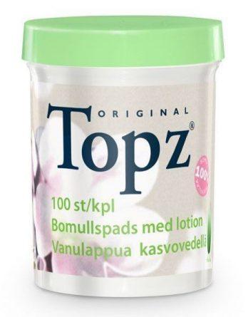 Topz Make-Up Remover Pads Vanulaput + Puhdistusemulsio 100 kpl