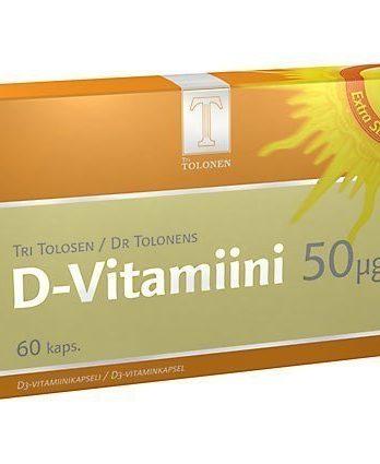 Tri Tolosen D-vitamiini 50 µg 150 kaps.