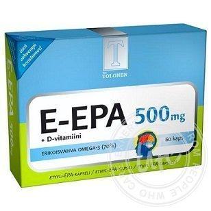 Tri Tolosen E-EPA kalaöljy 500 mg 60 kaps.