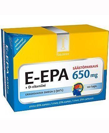 Tri Tolosen E-EPA kalaöljy 650 mg 120 kaps.