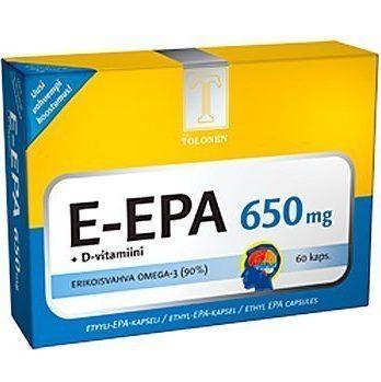 Tri Tolosen E-EPA kalaöljy 650 mg 60 kaps.