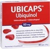 Ubicaps ubikinolivalmiste 50 mg 40 kaps.