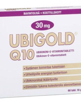 Ubigold Q 10 30 mg 60 tabl