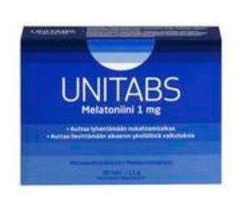 Unitabs melatoniini 1mg 30 tablettia