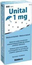 Unital 1 mg melatoniini 20 tablettia