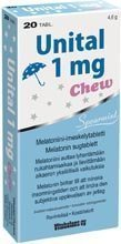 Unital Chew 1 mg melatoniini 50 tablettia