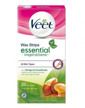 Veet Essential Inspirations Wax Strips Jaloille 20 kpl