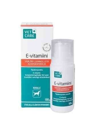 Vetcare E-vitamiini täydennysrehu 100 ml