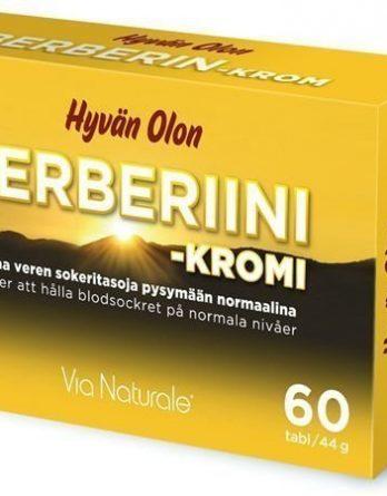 Via Naturale Hyvän Olon Berberiini + Kromi