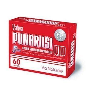 Via Naturale Vahva Punariisi Q10 60 tablettia