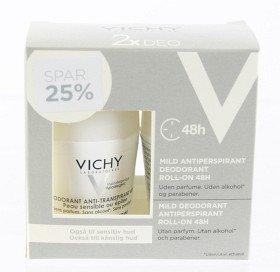 Vichy Antiperspirant Deo 48h 2 Kpl Pakkaus Hajusteeton