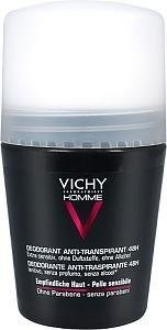 Vichy Homme Antiperspirant Deo 48h 50 ml Hajusteeton