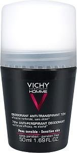 Vichy Homme Antiperspirant Deo 72h 50 ml