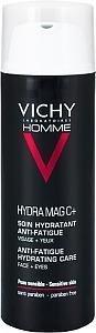 Vichy Homme Hydra Mag C+ Kasvo- Ja Silmänympärysvoide 50 ml