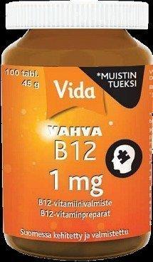 Vida Vahva B12-vitamiini 1 mg 100 Imeskelytablettia