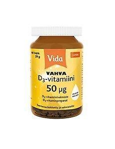 Vida Vahva D3-vitamiini 50 µg 100 kaps