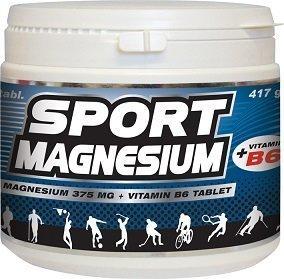 Vitabalans Sport Magnesium 375+B6 400 tablettia