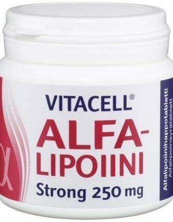 Vitacell Alfalipoiini Strong 250 mg