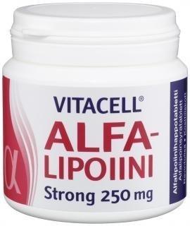 Vitacell Alfalipoiini Strong 250mg 120 tabl.