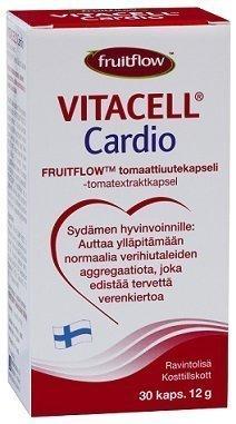 Vitacell Cardio Fruitflow-tomaattiuute 30 kaps