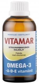 Vitamar Omega-3 + ADE kalaöljy 500 ml