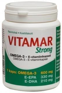 Vitamar Strong Omega-3 + E 80 kapselia