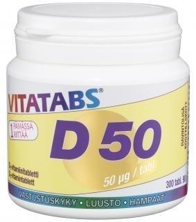 Vitatabs D 50µg 300 tabl.