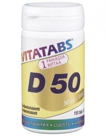 Vitatabs D 50 150 tabl