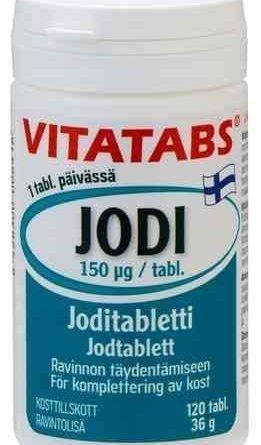 Vitatabs Jodi 120 tablettia