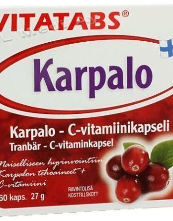 Vitatabs Karpalo - c-vitamiinikapseli
