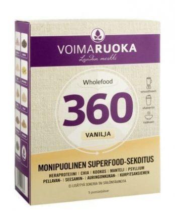 Voimaruoka 360 jauhe vanilja 5 annospussia