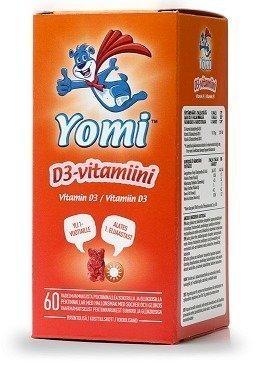 Yomi D3-vitamiini Vadelmanalle 60 kpl