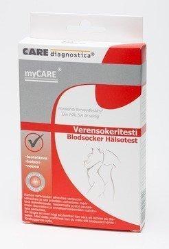 myCARE Verensokeritesti 2 testiä